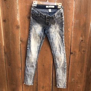 Wet seal women's washed denim jeans